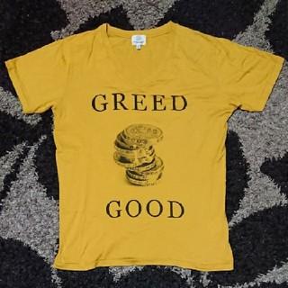ビューティアンドユースユナイテッドアローズ(BEAUTY&YOUTH UNITED ARROWS)のユナイテッドアローズ プリントVネックTシャツ Mサイズ(Tシャツ/カットソー(半袖/袖なし))
