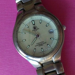 シチズン アテッサ チタン エコドライブ メンズ腕時計☆ジャンク(腕時計(アナログ))