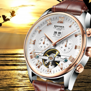 新品・未使用] Kinyued 高級 機械式 クロコ型押し メンズ腕時計(腕時計(アナログ))