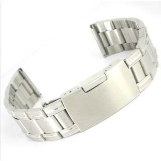 18MM バンド 腕時計 ステンレス プッシュ式 直カン シルバー(金属ベルト)