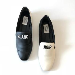 ルタロン(Le Talon)のLe Talon ★ オペラシューズ BLANC NOIR(ローファー/革靴)