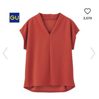 ジーユー(GU)のジーユー Vネック コクーンプルオーバー コクーン プルオーバー GU  gu(シャツ/ブラウス(半袖/袖なし))