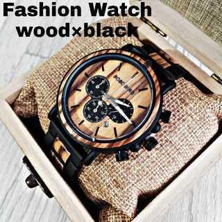 【B.B.BOBOBRID】メンズ マルチ 腕時計 ウォッチ ウッドデザイン (腕時計(アナログ))