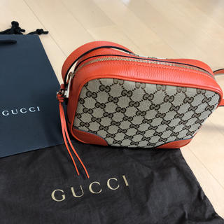 2607d4291bc0 グッチ(Gucci)の新品 未使用 GUCCI グッチ ショルダーバッグ GG柄 キャンバス レザー