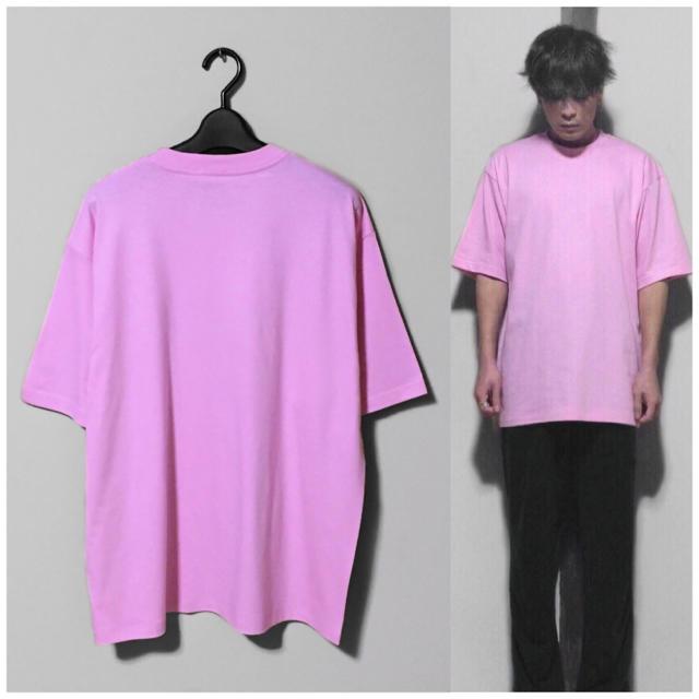 オーバーサイズ ビッグTシャツ ビッグサイズ ビッグシルエット ピンク メンズのトップス(Tシャツ/カットソー(半袖/袖なし))の商品写真