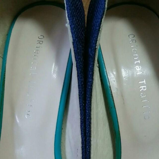 ORiental TRaffic(オリエンタルトラフィック)のoriental traffic ネイビーリボンパンプス  36 レディースの靴/シューズ(ハイヒール/パンプス)の商品写真