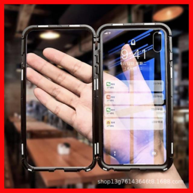 iphone アクセサリー ストラップ / ☆新品☆ iPhone マグネット ガラスケース ブラックの通販 by 1004's shop|ラクマ