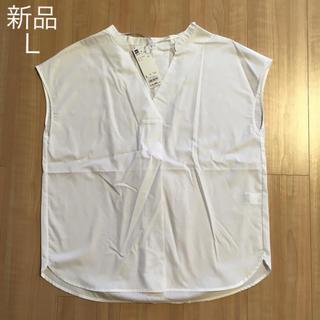 ジーユー(GU)の新品 スキッパーシャツL(シャツ/ブラウス(半袖/袖なし))