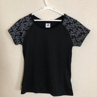 アディダス(adidas)のアディダス☆黒 花柄 ☆レディースM(Tシャツ(半袖/袖なし))
