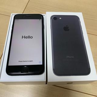 アップル(Apple)のiPhone 7 Black 128 GB docomo 【SIMフリー化済】(スマートフォン本体)