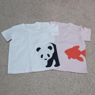 MUJI (無印良品) - 【無印良品】プリントTシャツ×2枚