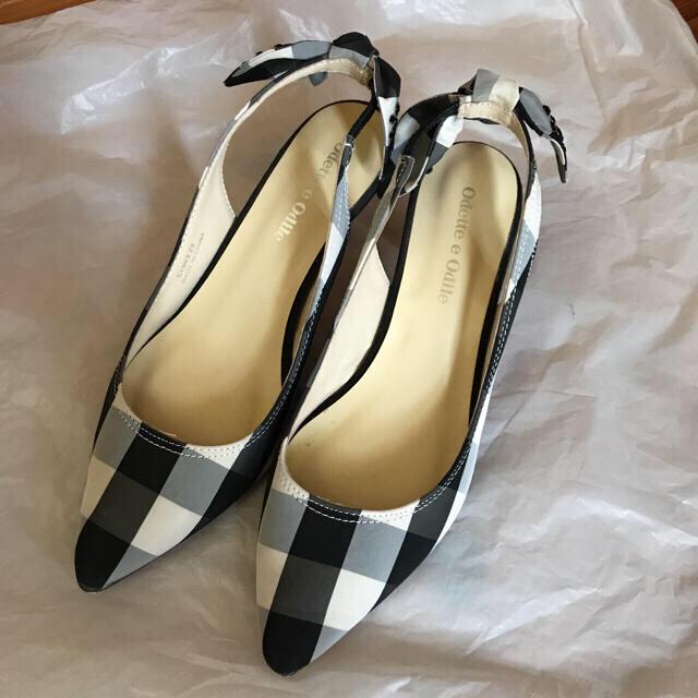 Odette e Odile(オデットエオディール)のOdette e Odile チェックのパンプス 22cm レディースの靴/シューズ(ハイヒール/パンプス)の商品写真