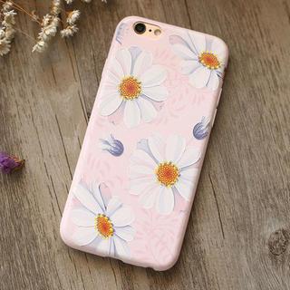 iPhone7 iPhone8 マーガレット お花 3D 浮き彫り ケース