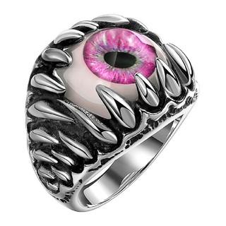 ピンク モンスターアイ リング 指輪 フリーサイズ(リング(指輪))