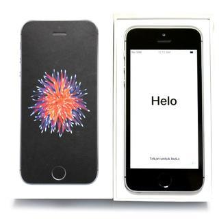 アップル(Apple)のiphone SE 16 GB au space gray 美品(スマートフォン本体)