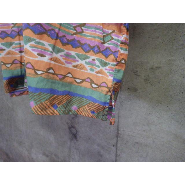 90s 総柄 ポリシャツ L オーバーシルエット メンズのトップス(シャツ)の商品写真