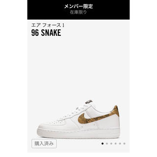 ナイキ(NIKE)のNIKE AIR FORCE 1 96 SNAKE(スニーカー)