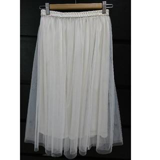 ジーユー(GU)のGU チュールスカート(ひざ丈スカート)
