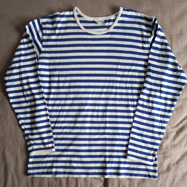 marimekko マリメッコ ボーダー 長袖Tシャツ M メンズのトップス(Tシャツ/カットソー(七分/長袖))の商品写真