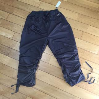 コンバース(CONVERSE)のコンバース  裾シャーリング7分パンツ L  チャコールグレー(クロップドパンツ)
