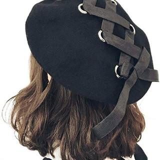 リボン 帽子 ベレー帽 ノーブランド(ハンチング/ベレー帽)