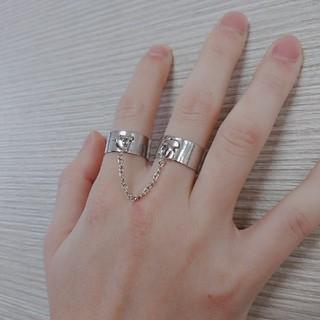 2連リング フリーサイズリング(リング(指輪))