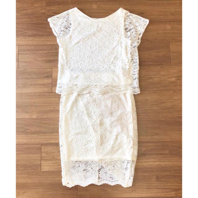 GU(ジーユー)の新品♡GU レースセットアップ ホワイト 白 レディースのスカート(ひざ丈スカート)の商品写真