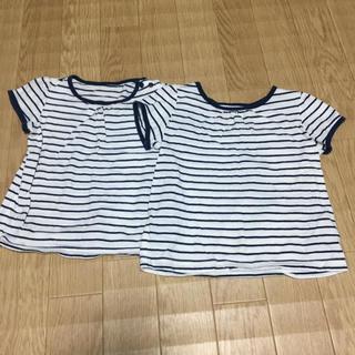 シマムラ(しまむら)の【双子、姉妹】 オーガニックコットン ボーダー Tシャツ(Tシャツ/カットソー)