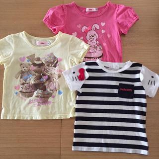 4ea54a99dba95 シマムラ(しまむら)のTシャツ 3枚セット 90 まとめ売り(Tシャツ