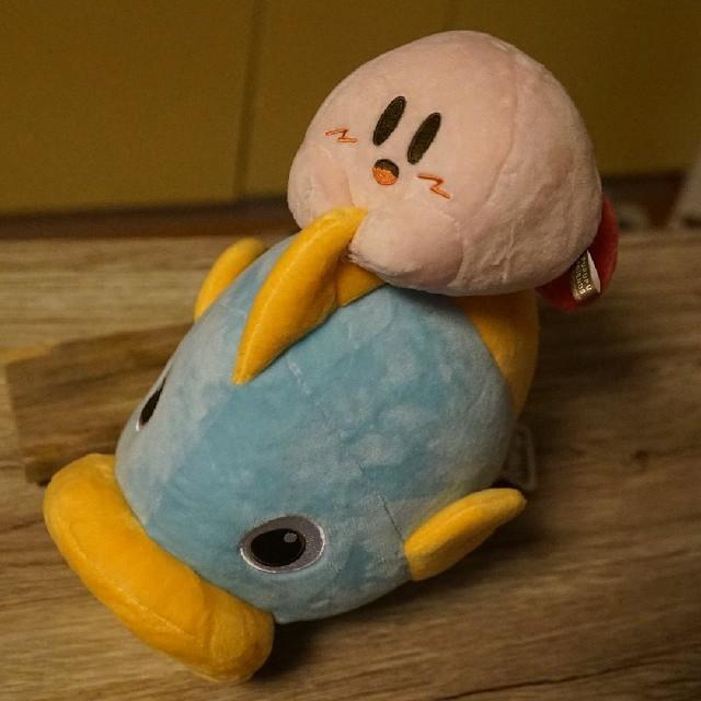 任天堂(ニンテンドウ)のカインとカービィ ぬいぐるみ エンタメ/ホビーのおもちゃ/ぬいぐるみ(ぬいぐるみ)の商品写真