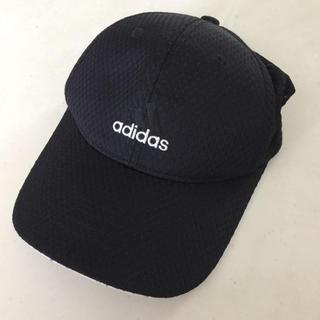 アディダス(adidas)のアディダス キャップ 黒 フリーサイズ(帽子)