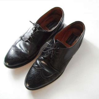 ●ボストニアンウィングチップ 黒 美品 [#004](ドレス/ビジネス)