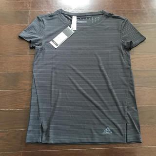 アディダス(adidas)のアディダス★サラサラ素材TシャツS ダークグレー新品(Tシャツ(半袖/袖なし))