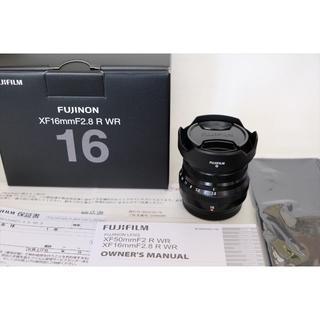 富士フイルム - 新品フジノンレンズ XF16mmF2.8 R WR ブラック