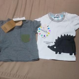 しまむら - 新品未使用★男の子半袖Tシャツ二枚セット80
