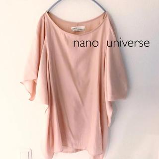 nano・universe - ナノユニバース ブラウス カットソー半袖 nano  universe