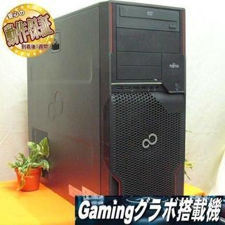 フジツウ(富士通)のGTX1050+新品SSD☆PUBG/Apex/R6S動作OK♪(デスクトップ型PC)
