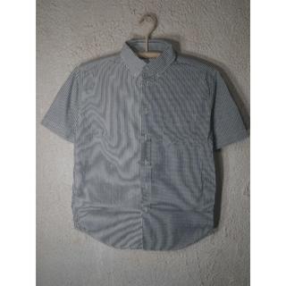 coen - 3875 コーエン 半袖 チェック ストライプ クレイジーパターン BDシャツ