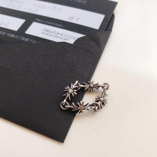 クロムハーツ(Chrome Hearts)のクロムハーツ タイニークロス リング シルバー ダイヤ入り 正規品 s(リング(指輪))