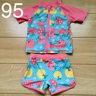 西松屋 - 子ども用 女の子用 水着 セパレートタイプ 95