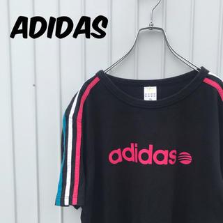 アディダス(adidas)のadidas アディダス Tシャツ スリーライン カラフル 古着女子(Tシャツ/カットソー(半袖/袖なし))