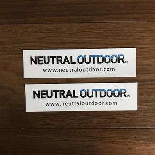 ザノースフェイス(THE NORTH FACE)の非売品 ニュートラルアウトドア ステッカー 2枚セット(その他)