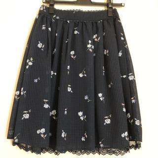 LODISPOTTO - ロディスポット膝丈花柄ネイビースカート