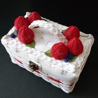 いちごケーキみたいなバスケット(Wベリー)