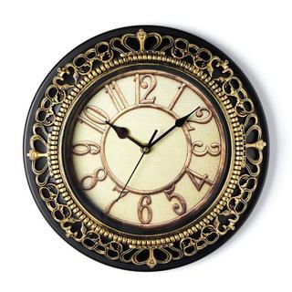 掛け時計 おしゃれ 静音 アンティーク 30cm (金)