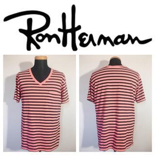 ロンハーマン(Ron Herman)のRon herman×Hanesロンハーマン 胸ポケットボーダーVネックTシャツ(Tシャツ/カットソー(半袖/袖なし))