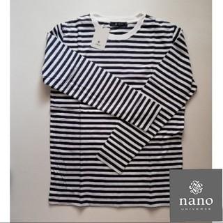 nano・universe - 【新品】ナノユニバース クルーネック ボーダー カットソー