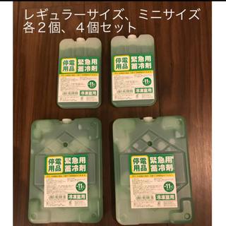 【新品未使用】氷点下保冷剤 -11℃ レギュラー、ミニ各2個、4個セット