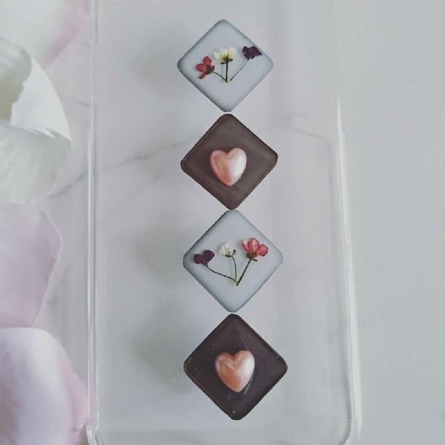 iPhoneケース ハンドメイド アリッサムの押し花の通販 by RSI's shop|ラクマ