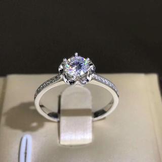 【0.5カラット】輝く モアサナイト ダイヤ リング(リング(指輪))